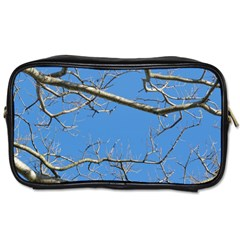 Leafless Tree Branches Against Blue Sky Toiletries Bags