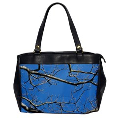 Leafless Tree Branches Against Blue Sky Office Handbags