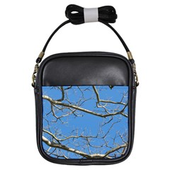 Leafless Tree Branches Against Blue Sky Girls Sling Bags