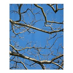 Leafless Tree Branches Against Blue Sky Shower Curtain 60  X 72  (medium)