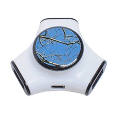 Leafless Tree Branches Against Blue Sky 3-Port USB Hub