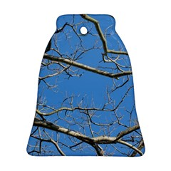Leafless Tree Branches Against Blue Sky Bell Ornament (2 Sides)