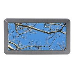 Leafless Tree Branches Against Blue Sky Memory Card Reader (Mini)