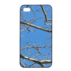 Leafless Tree Branches Against Blue Sky Apple iPhone 4/4s Seamless Case (Black)