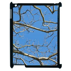 Leafless Tree Branches Against Blue Sky Apple iPad 2 Case (Black)