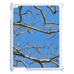 Leafless Tree Branches Against Blue Sky Apple iPad 2 Case (White)