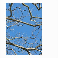 Leafless Tree Branches Against Blue Sky Small Garden Flag (two Sides)