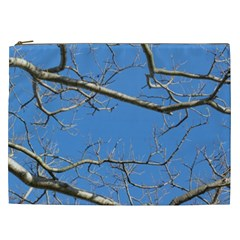 Leafless Tree Branches Against Blue Sky Cosmetic Bag (XXL)