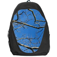 Leafless Tree Branches Against Blue Sky Backpack Bag