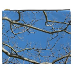Leafless Tree Branches Against Blue Sky Cosmetic Bag (XXXL)