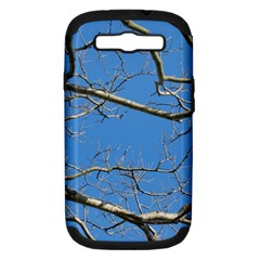 Leafless Tree Branches Against Blue Sky Samsung Galaxy S III Hardshell Case (PC+Silicone)