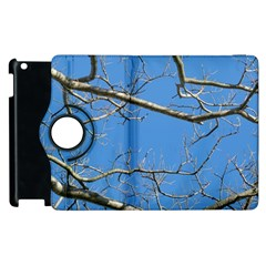 Leafless Tree Branches Against Blue Sky Apple iPad 3/4 Flip 360 Case
