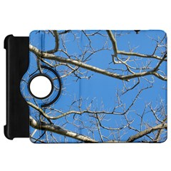Leafless Tree Branches Against Blue Sky Kindle Fire HD Flip 360 Case