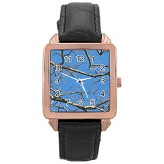 Leafless Tree Branches Against Blue Sky Rose Gold Watches
