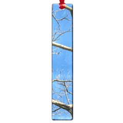 Leafless Tree Branches Against Blue Sky Large Book Marks
