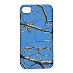 Leafless Tree Branches Against Blue Sky Apple iPhone 4/4S Hardshell Case with Stand