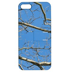 Leafless Tree Branches Against Blue Sky Apple iPhone 5 Hardshell Case with Stand