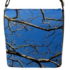 Leafless Tree Branches Against Blue Sky Flap Messenger Bag (S)