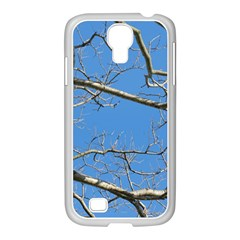 Leafless Tree Branches Against Blue Sky Samsung GALAXY S4 I9500/ I9505 Case (White)