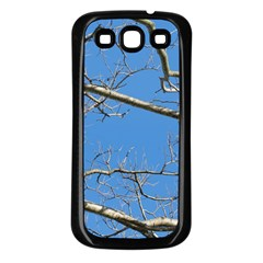Leafless Tree Branches Against Blue Sky Samsung Galaxy S3 Back Case (Black)