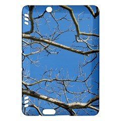 Leafless Tree Branches Against Blue Sky Kindle Fire HDX Hardshell Case