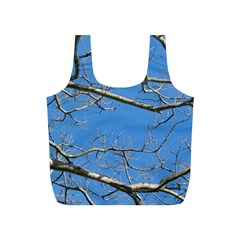 Leafless Tree Branches Against Blue Sky Full Print Recycle Bags (S)