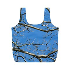 Leafless Tree Branches Against Blue Sky Full Print Recycle Bags (M)