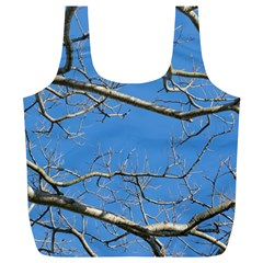 Leafless Tree Branches Against Blue Sky Full Print Recycle Bags (L)