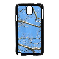 Leafless Tree Branches Against Blue Sky Samsung Galaxy Note 3 Neo Hardshell Case (Black)