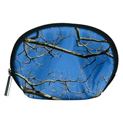 Leafless Tree Branches Against Blue Sky Accessory Pouches (Medium)
