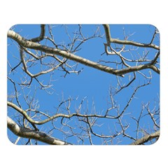 Leafless Tree Branches Against Blue Sky Double Sided Flano Blanket (large)