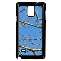 Leafless Tree Branches Against Blue Sky Samsung Galaxy Note 4 Case (Black)