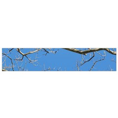 Leafless Tree Branches Against Blue Sky Flano Scarf (Small)