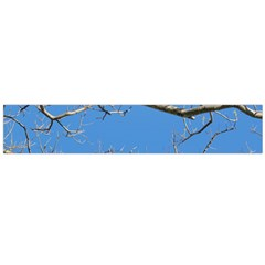 Leafless Tree Branches Against Blue Sky Flano Scarf (Large)
