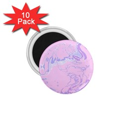 Unique Marbled 2 Baby Pink 1.75  Magnets (10 pack)