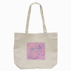 Unique Marbled 2 Baby Pink Tote Bag (Cream)