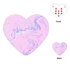 Unique Marbled 2 Baby Pink Playing Cards (Heart)