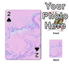 Unique Marbled 2 Baby Pink Playing Cards 54 Designs