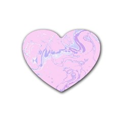 Unique Marbled 2 Baby Pink Heart Coaster (4 pack)