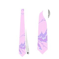 Unique Marbled 2 Baby Pink Neckties (one Side)