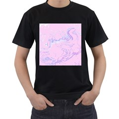 Unique Marbled 2 Baby Pink Men s T-Shirt (Black)