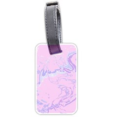 Unique Marbled 2 Baby Pink Luggage Tags (Two Sides)