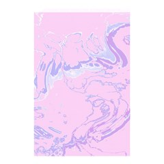 Unique Marbled 2 Baby Pink Shower Curtain 48  X 72  (small)