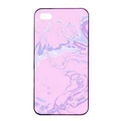 Unique Marbled 2 Baby Pink Apple iPhone 4/4s Seamless Case (Black)