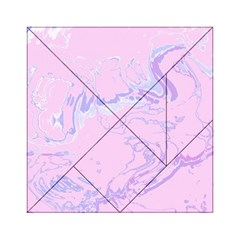 Unique Marbled 2 Baby Pink Acrylic Tangram Puzzle (6  X 6 )