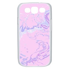 Unique Marbled 2 Baby Pink Samsung Galaxy S III Case (White)