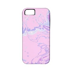 Unique Marbled 2 Baby Pink Apple iPhone 5 Classic Hardshell Case (PC+Silicone)