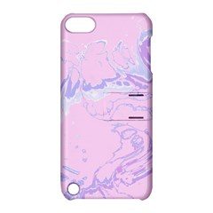 Unique Marbled 2 Baby Pink Apple iPod Touch 5 Hardshell Case with Stand