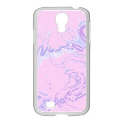 Unique Marbled 2 Baby Pink Samsung GALAXY S4 I9500/ I9505 Case (White)
