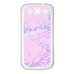Unique Marbled 2 Baby Pink Samsung Galaxy S3 Back Case (White)